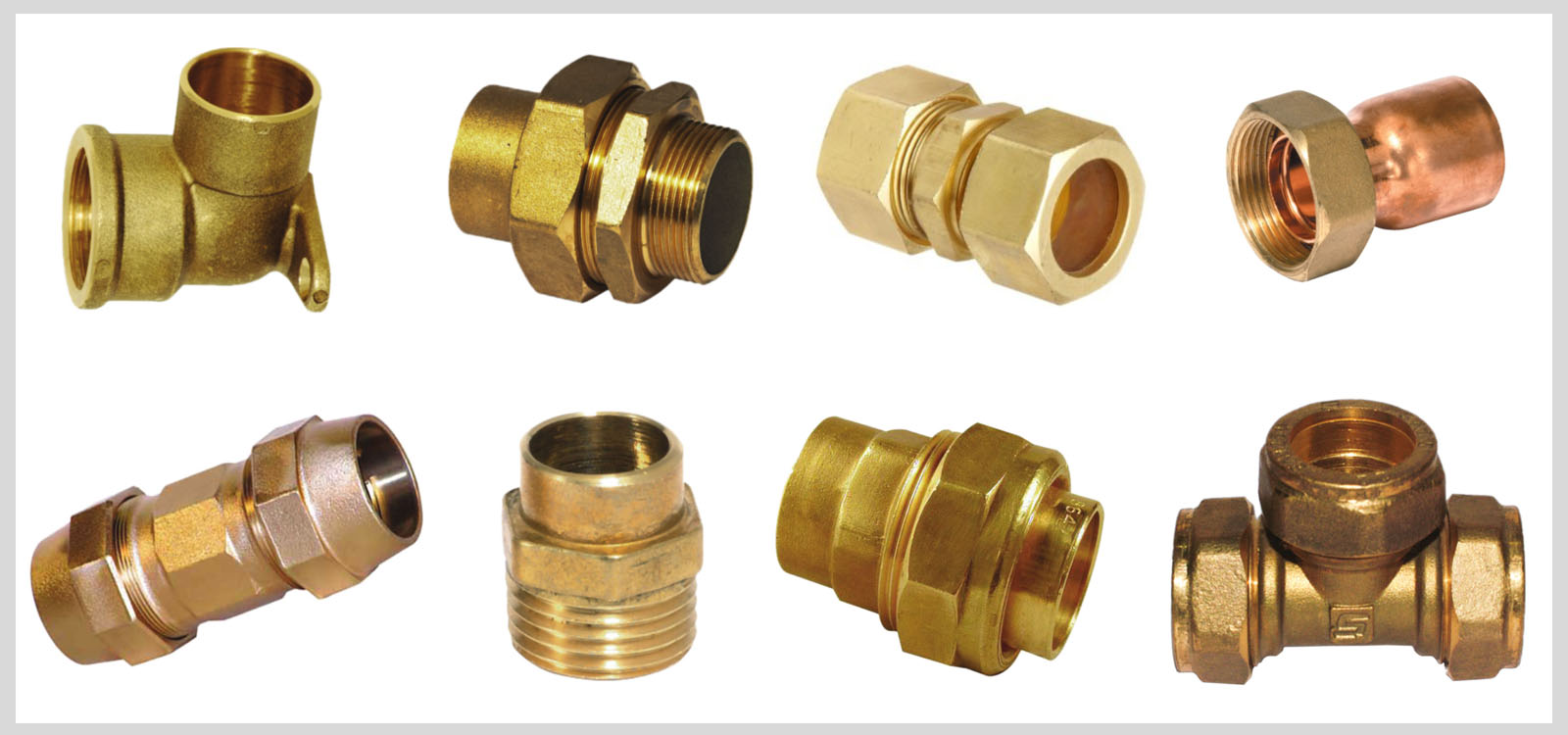 Brass copper pipe fittings
